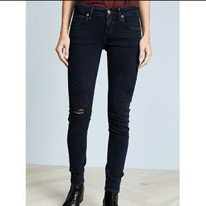 NEW Agolde Lara Low Rise Slim Distressed Jeans